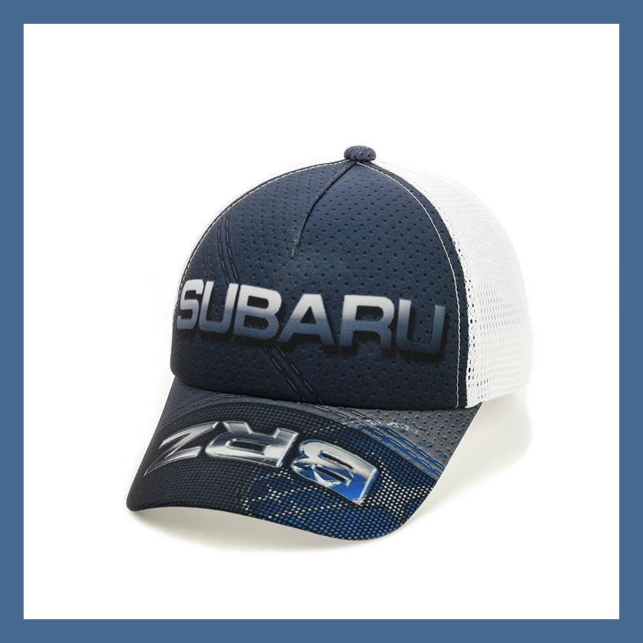 """Кепка- бейсболка  """"Subaru"""" с белой сеткой"""