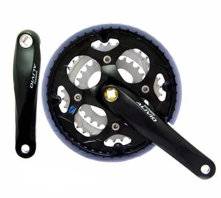 Шатуны Shimano FC-M411 Alivio, 170мм, 42x32x22 под квадрат, черные (404100), фото 2