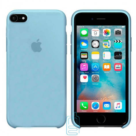 Чехол Silicone Case Apple iPhone 5. 5S голубой 05, фото 2
