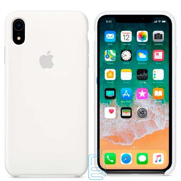 Чехол Silicone Case Apple iPhone XR белый 09