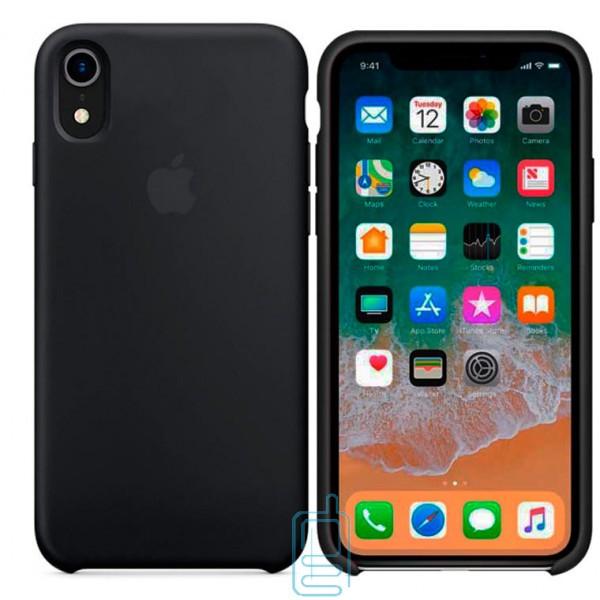 Чехол Silicone Case Apple iPhone XR черный 18