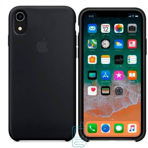 Чехол Silicone Case Apple iPhone XR черный 18, фото 2