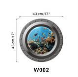 """Наклейка """"Подводный мир"""" окно каюты - диаметр наклейки 43см, фото 2"""