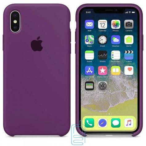 Чехол Silicone Case Apple iPhone XS Max фиолетовый 34, фото 2