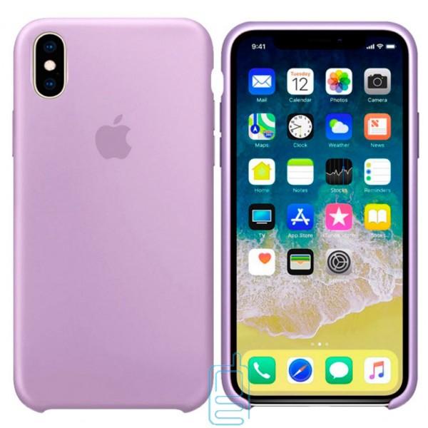 Чехол Silicone Case Apple iPhone XS Max сиреневый 39