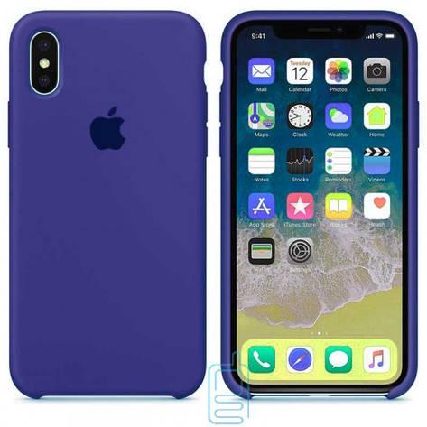 Чехол Silicone Case Apple iPhone XS Max синий 44, фото 2