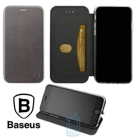 Чехол-книжка Baseus Premium Edge Xiaomi Redmi 6A серый, фото 2