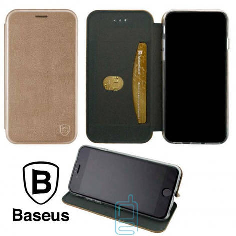 Чехол-книжка Baseus Premium Edge Xiaomi Redmi GO розово-золотистый, фото 2