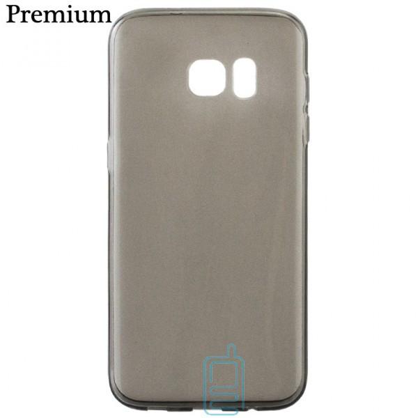 Чехол силиконовый Premium Samsung S7 Edge G935 затемненный