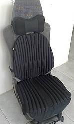 Ортопедична еко подушка - чохол на авто крісло (TIR) в комплекті з подушкою на підголівник. Універсальна