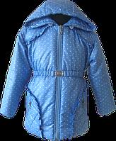 Красивая куртка для девочки на синтепоне. Размер 86
