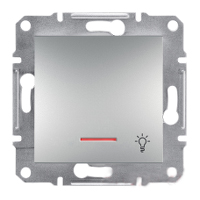Кнопка «Свет» EPH1700161 с подсветкой самозажимные контакты ASFORA Schneider Electric Алюминий, 0743