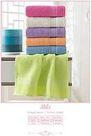 Махровое гладкокрашенное полотенце 70*140