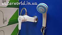 Смеситель для душа Plamix Mario-003 White( с комплектом) из термопластика