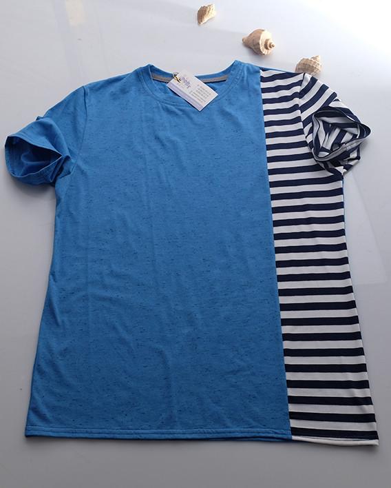 Футболка мужская  голубая  размеры 48-52
