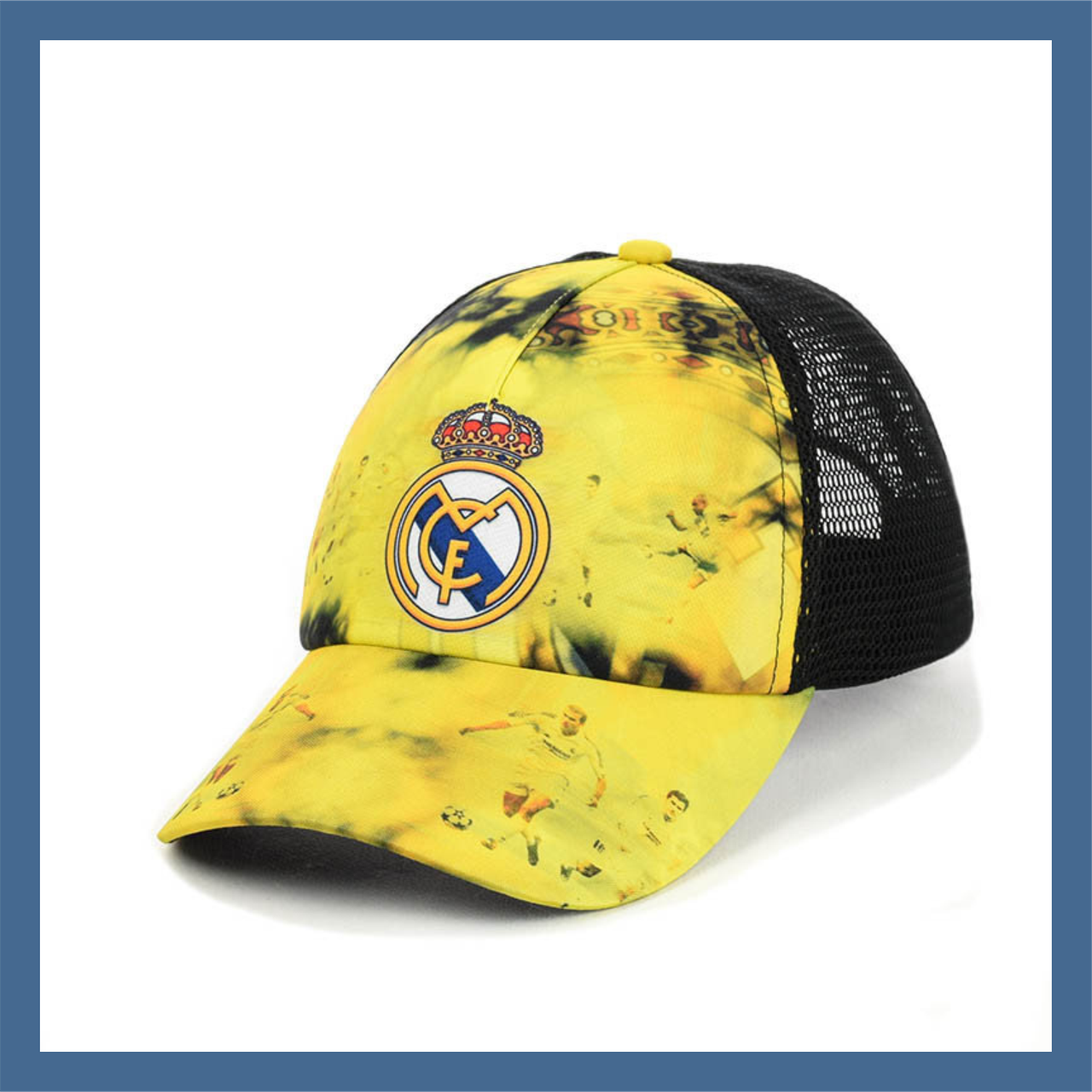 """Кепка- бейсболка """"Real Madrid"""" с черной сеткой"""