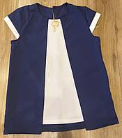 """Школьная нарядная блузка обманка """"Брошка"""" от производителя, фото 1"""
