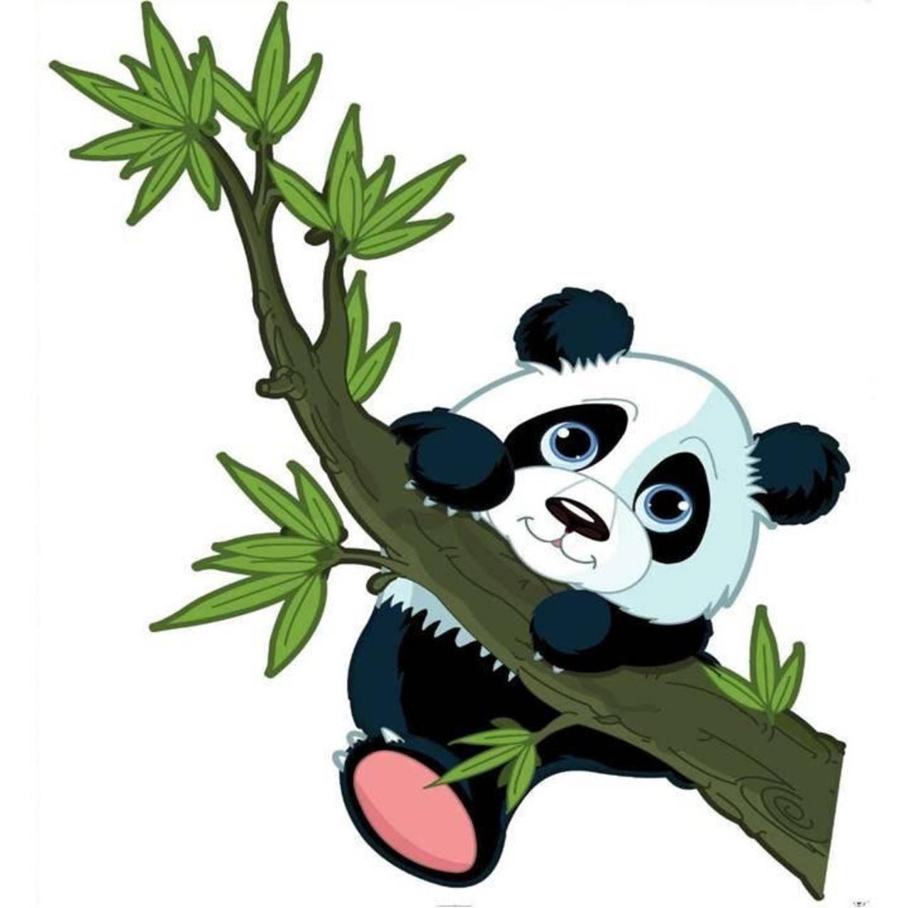 Наклейка, панда, интерьерная Label  №16
