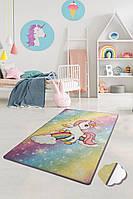 Коврик в детскую комнату, детский ковер 100*160 см, Единорог