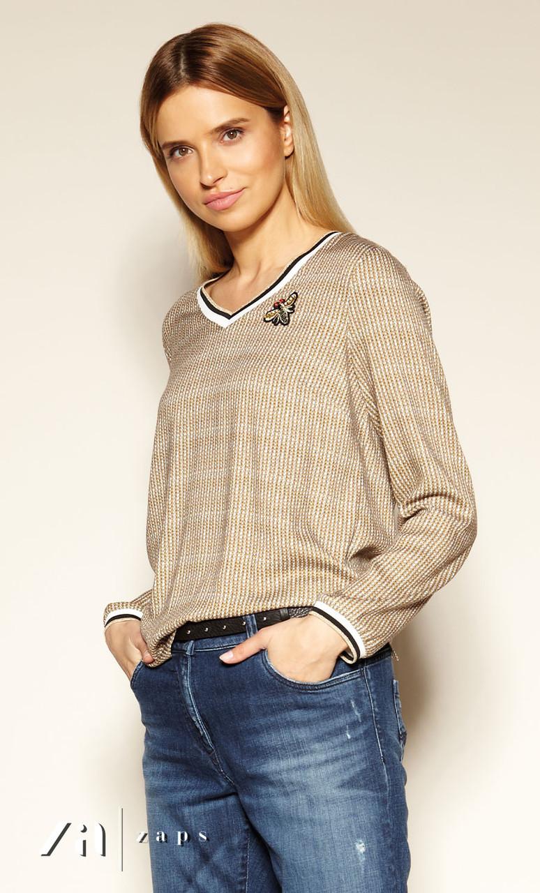 Блуза Trilly Zaps гірчичного кольору.