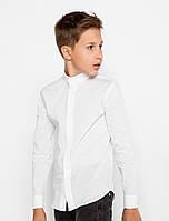 Подростковая школьная рубашка с воротником-стойкой, р. 152