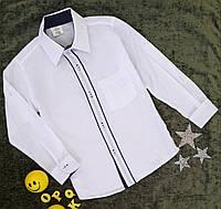 Рубашка  школьная белая на мальчика, р. 11-14 лет,