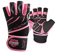 Перчатки для фитнеса и тяжелой атлетики женские Power System Rebel Girl PS-2720 M Pink