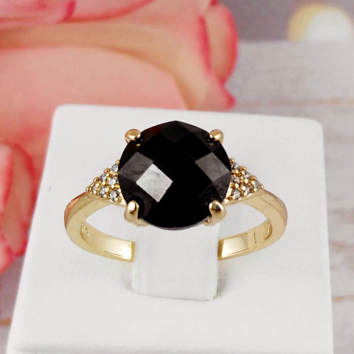 "Кольцо Xuping Jewelry размер 17 ""Эшли"" медицинское золото, позолота 18К. А/В 3577"