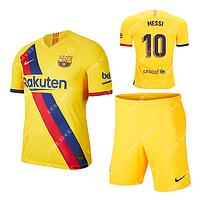 Футбольная форма детская Барселона 2019-2020 Месси Гостевая