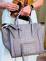 Яркая женская сумка Celine кожа под крокодила (реплика), фото 1