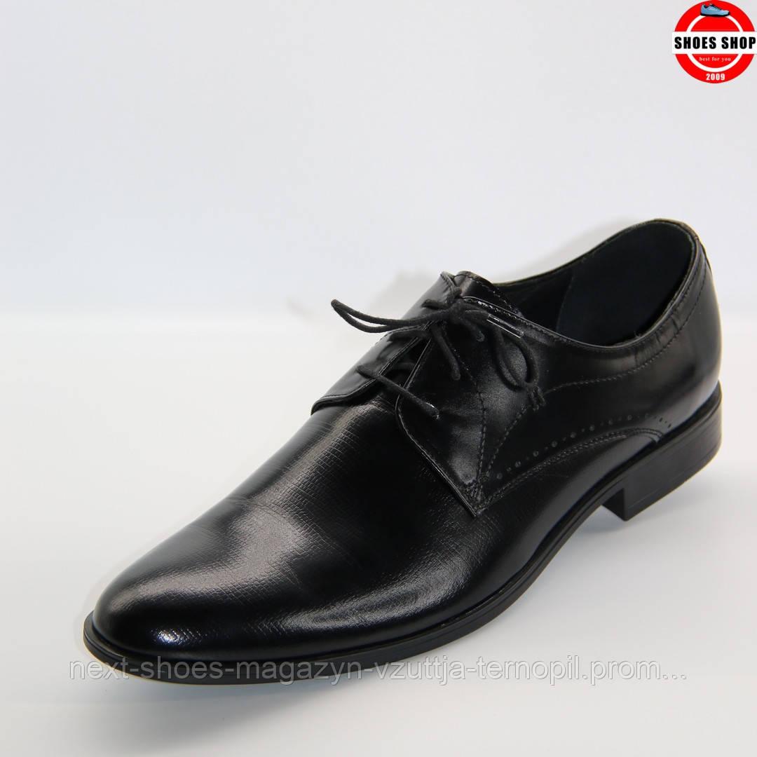 Чоловічі туфлі TAPI (чорні) ідеально підходять під костюм. Стиль: Джеймс Бонд