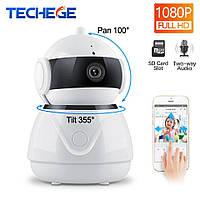 Камера безопасности Techege C8 1080P. Поворотная Wi-Fi IP-камера Ночное видение, 2-х стороннее аудио. Danale