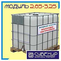 Калиево-натриевое жидкое стекло: плотность 1,40, силикатный модуль 2,85÷3,25