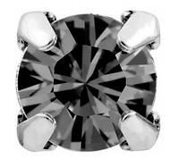 Стразы в серебряных цапах Swarovski 17704 пришивные Black Diamond, фото 1
