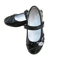 Туфли черные Lilin для девочки (р.28,29,30)