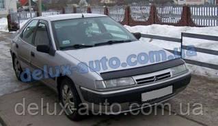 Мухобойка на капот Citroën Xantia II 1998-2001 Дефлектор капота на Ситроен Ксантия 2 1998-2001