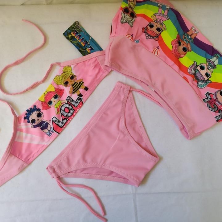 Купальник для девочек Z.FIVE 9107 Зая розовый (есть 28 30 32 34 36 размеры)