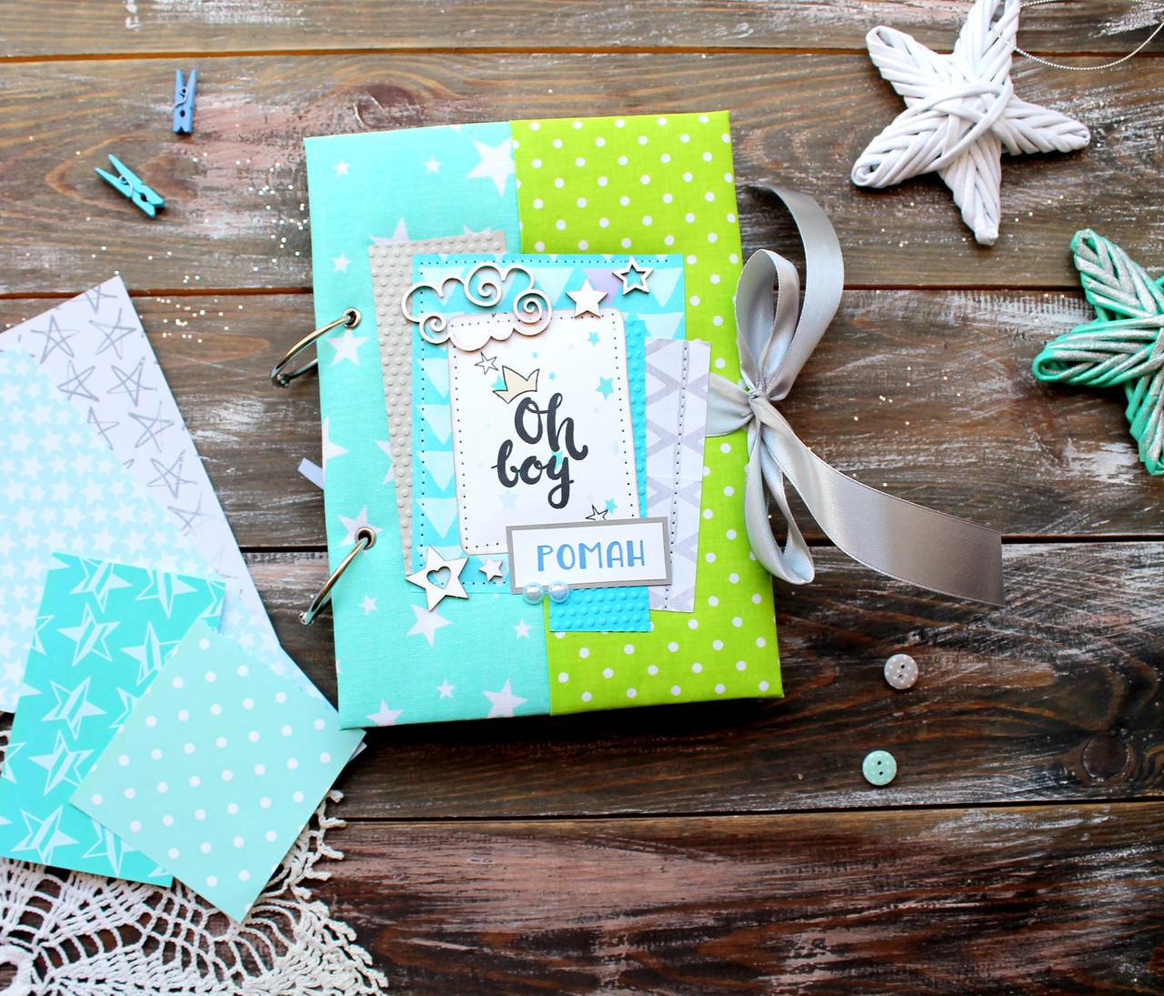 Мамины заметки, Мамин дневник, Baby book для для мальчика, 200 цветных, плотных страниц