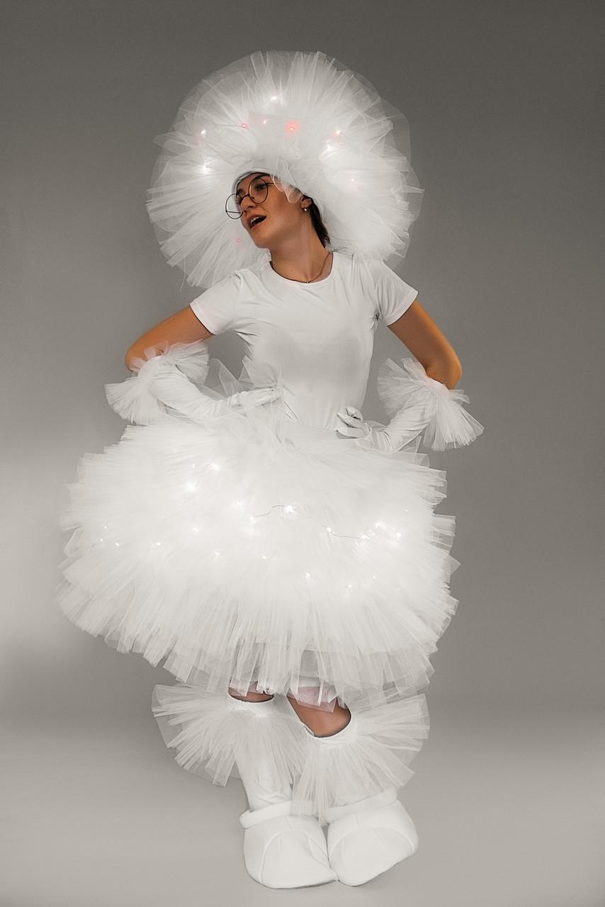 Костюм Фьека светящийся белый карнавальный костюм \ размер универсальный \ BL - ВЖ332
