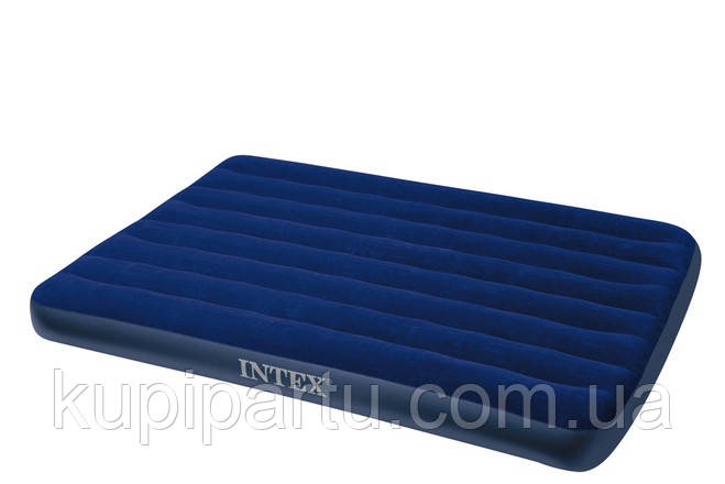 64758 Надувной матрас Classic Downy Airbed Fiber-Tech, 137х191х25см