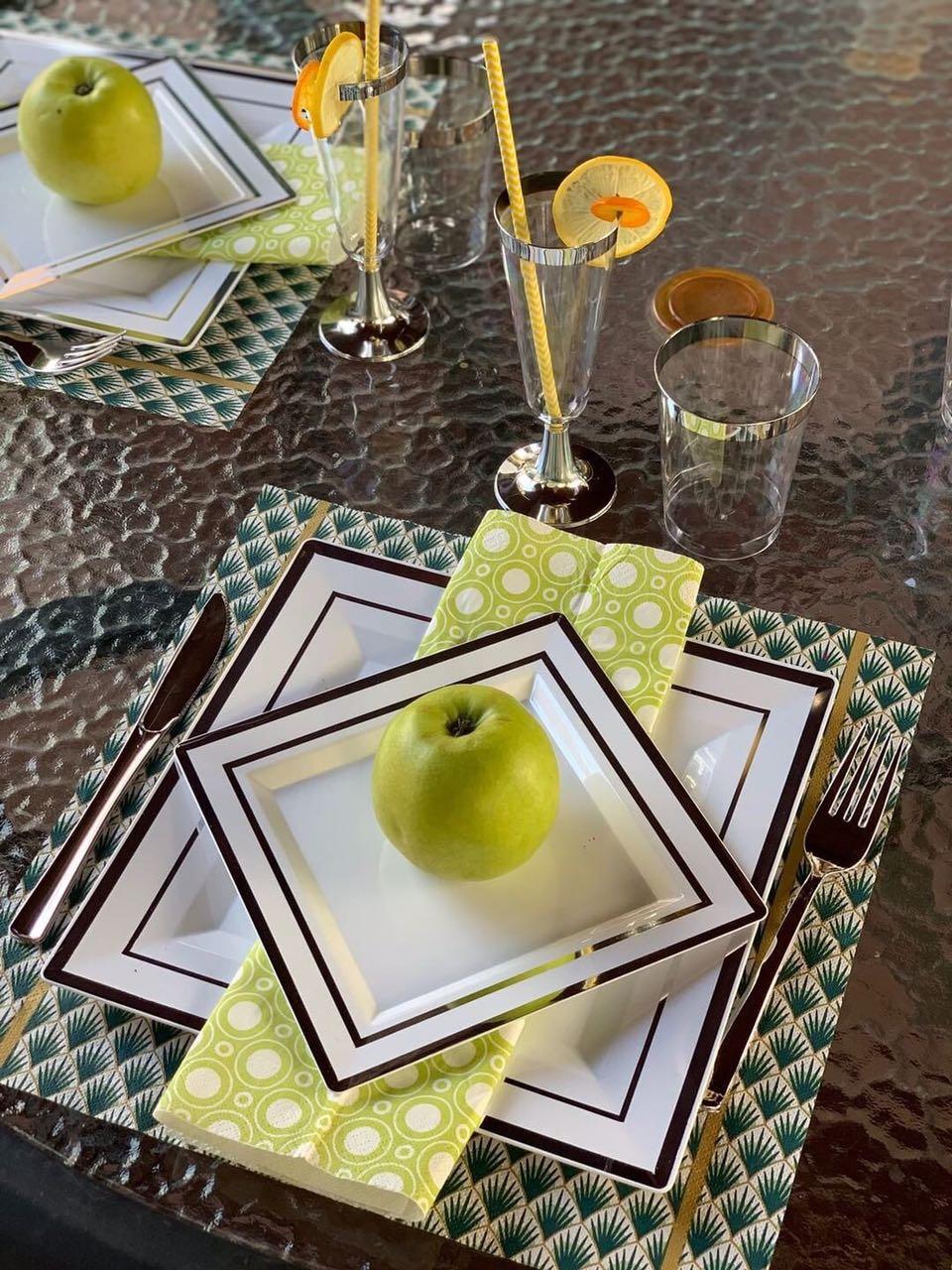 Тарелки стеклопластик для ресторанов, кафе, кенди бара,кейтеринга,хореки оптом от производителя CFP 6 шт 190мм