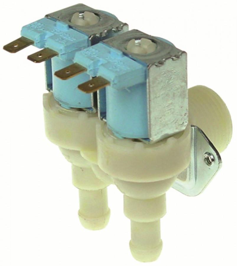 Клапан 23116 (0.8 литр в мин) двойной для льдогенератора Brema, Electrolux, Kastel, NTF и др. (универсальный)
