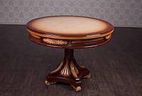 Обеденный стол из дерева в классическом стиле. Обеденный столик на кухню под заказ. От фабрики, круглый
