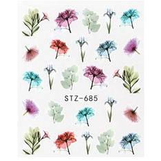 KATTi Наклейки водные STZ 685 акварель цветные цветы стебли