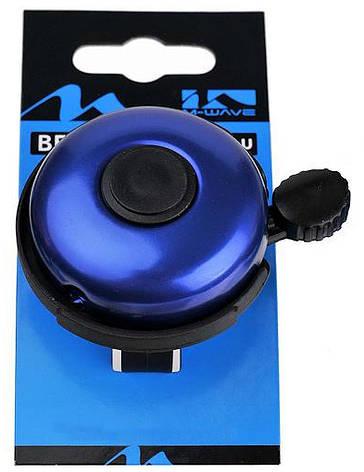Звонок велосипедный M-Wave алюминиевый синий (A-DKL-0053), фото 2