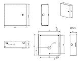 Монтажний бокс MB-03MB (Ш280 Г85 В280) білий, RAL9016(White), фото 4