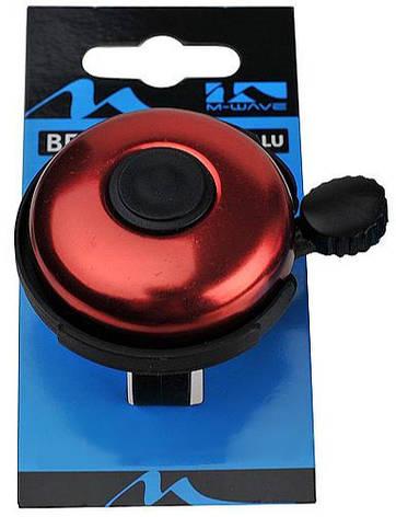 Звонок велосипедный M-Wave алюминиевый красный (A-DKL-0052), фото 2