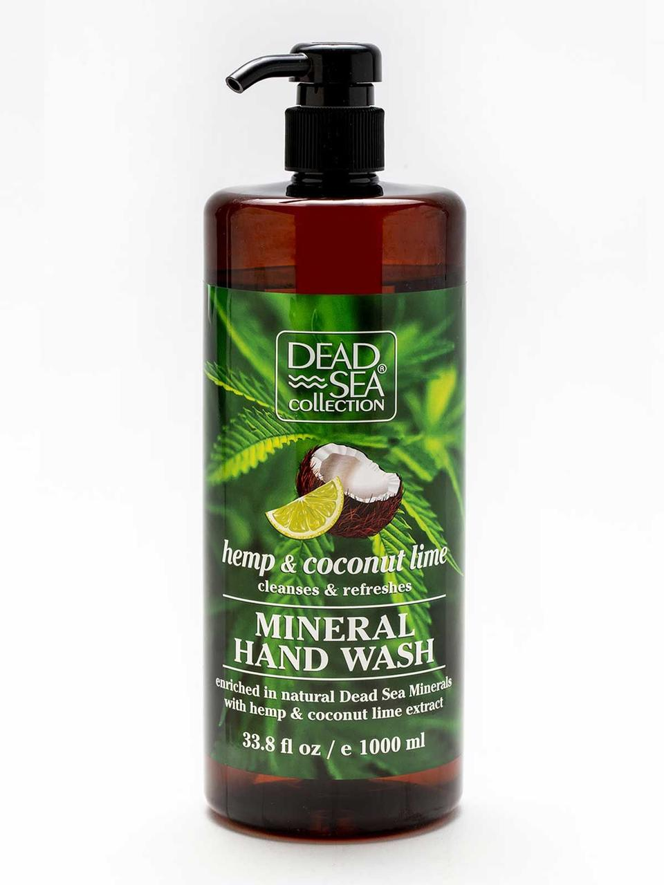 Мыло жидкое Dead Sea Collection с минералами Мертвого моря и экстрактами конопли, кокоса и лайма 1 л