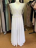 Белое воздушное платье из шифона