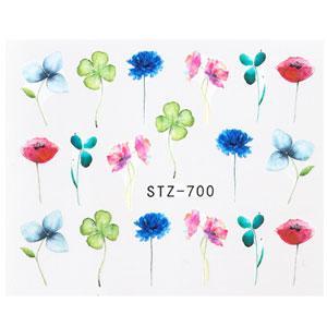 KATTi Наклейки водные STZ 700 акварель цветные цветы стебли